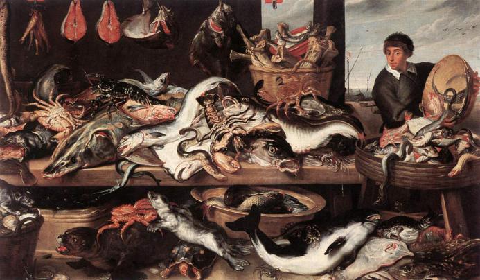Frans Snyders (1579–1657), Fishmonger's (c. 1616)