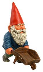Gnome with wheelbarrow