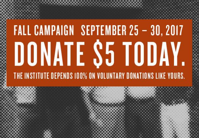 Fall 2017 online fundraiser