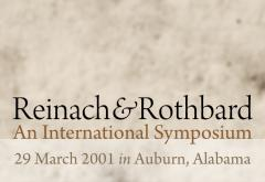 Reinach and Rothbard Symposium 2001