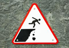 falling off a cliff