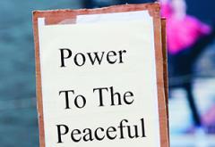 peaceful sign