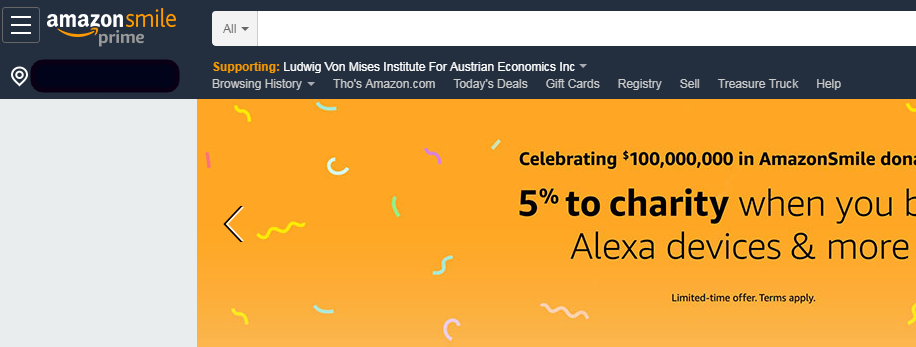This Week Only Donate 5 Of Your Amazon Purchase To The Mises