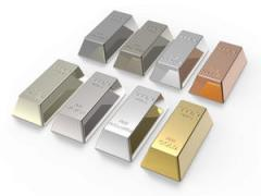 Daily July gold and silver bars