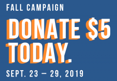 Donate $5 Today!