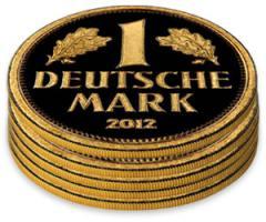 Gold Deutsche Mark Stack