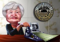 Janet Yellen Caricature